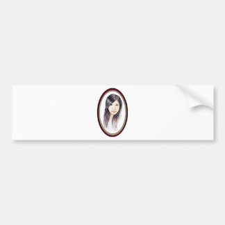 Beautiful Portrait of an Asian Woman Bumper Sticker