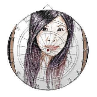 Beautiful Portrait of an Asian Woman Dartboard
