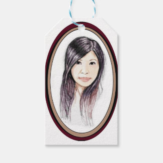 Beautiful Portrait of an Asian Woman Gift Tags