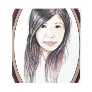 Beautiful Portrait of an Asian Woman Notepad