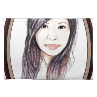 Beautiful Portrait of an Asian Woman Placemat