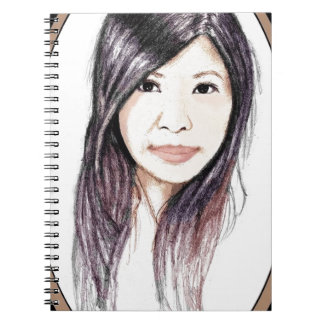 Beautiful Portrait of an Asian Woman Spiral Notebook