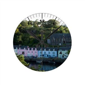 Beautiful Portree scotland Round Clock