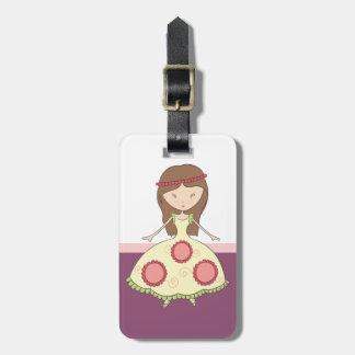 Beautiful Princess Girl Luggage Tag