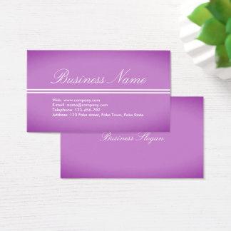 Beautiful Professional Purple-Pink Business Card