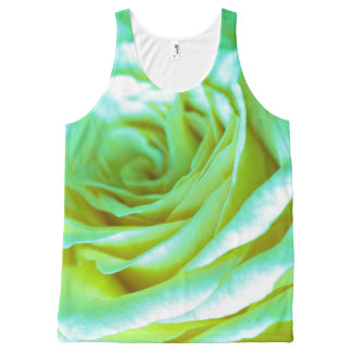 Beautiful Psychedelic Rose | Adorable Gifts All-Over Print Singlet
