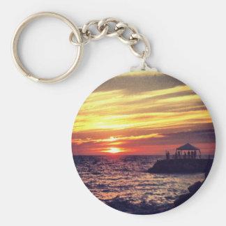 Beautiful Puerto Vallarta Sunset Key Ring