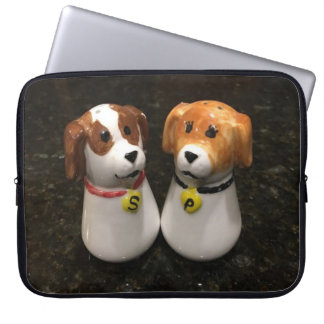 "Beautiful ""Puppy Salt and Pepper Shakers"" Laptop Sleeve"