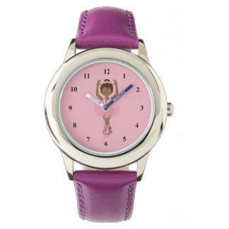 Beautiful Purple African American Ballerina Watch