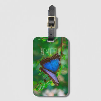 Beautiful Purple and Blue Butterfly Bag Tag