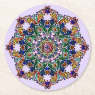 Beautiful Purple and Blue Mandala Coasters