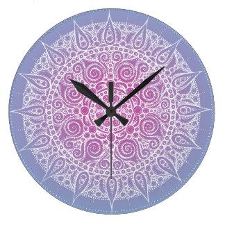 Beautiful Purple/Blue Oriental Design Wallclocks