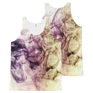 Beautiful Purple Brown Smoky Dust All-Over Print Singlet