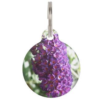 Beautiful Purple Buddleia Flowers Custom Dog Tag