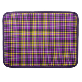 Beautiful purple checkered Pattern Sleeves For MacBooks