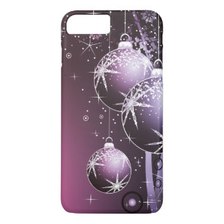 Beautiful Purple Christmas Design iPhone 8 Plus/7 Plus Case