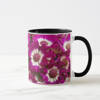 Beautiful Purple Cineraria Flowers Mug