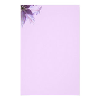 Beautiful Purple Clematis Stationery Paper