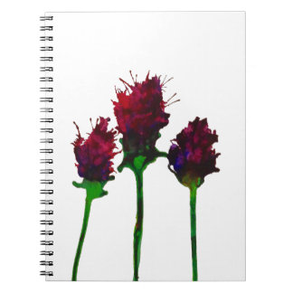 Beautiful Purple Flower Design Notebook