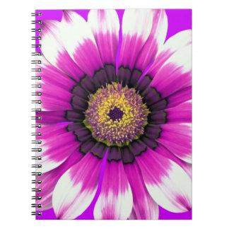 Beautiful purple flower spiral notebook
