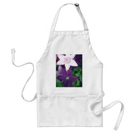 Beautiful Purple Flowers Aprons