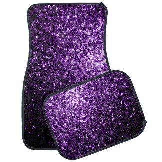 Beautiful Purple glitter sparkles Car Mat