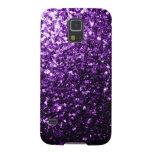 Beautiful Purple glitter sparkles Samsung GS5 case