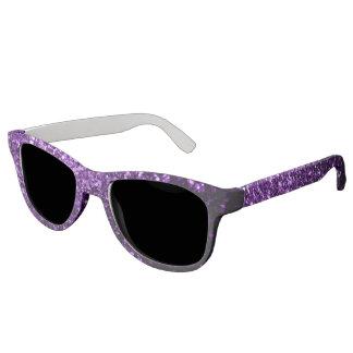 Beautiful Purple glitter sparkles Sunglasses