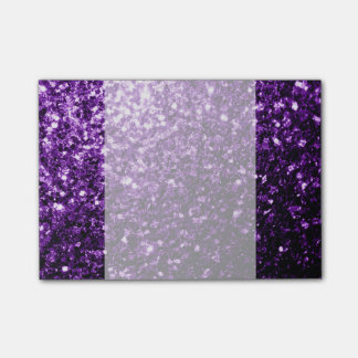 Beautiful Purple glitter sparkles Post-it® Notes