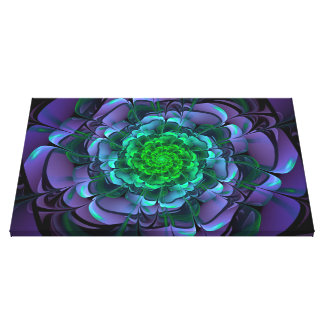 Beautiful Purple & Green Aeonium Arboreum Zwartkop Canvas Print