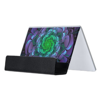 Beautiful Purple & Green Aeonium Arboreum Zwartkop Desk Business Card Holder