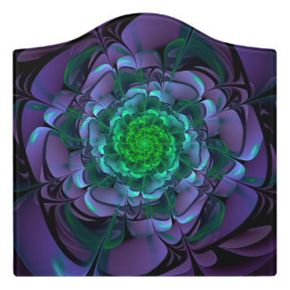 Beautiful Purple & Green Aeonium Arboreum Zwartkop Door Sign