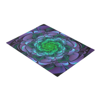Beautiful Purple & Green Aeonium Arboreum Zwartkop Doormat