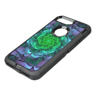 Beautiful Purple & Green Aeonium Arboreum Zwartkop OtterBox Defender iPhone 8 Plus/7 Plus Case