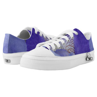 Beautiful Purple Iris Custom Zipz Low Top Shoes