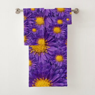 Beautiful Purple Michaelmas Daisies Bath Towel Set