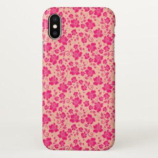 beautiful purple orange flowers swirl pink love iPhone x case