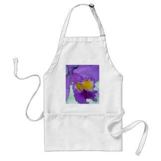Beautiful purple orchid flower aprons