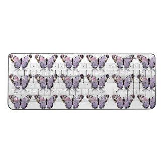 Beautiful purple pattern  butterflies Keyboard