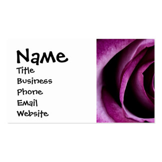 Beautiful Purple Rose Flower Petals Girly Gifts Pack Of Standard Business Cards