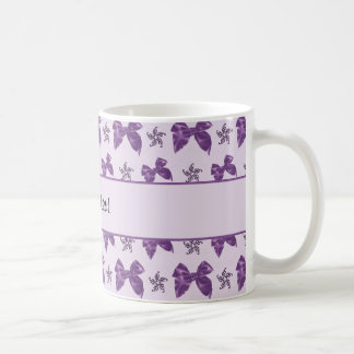 Beautiful Purple Satin Bows Coffee Mug