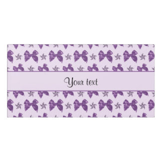 Beautiful Purple Satin Bows Door Sign