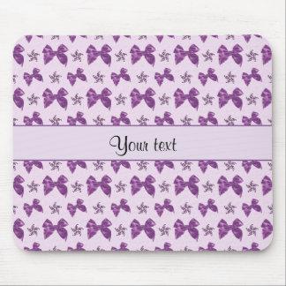 Beautiful Purple Satin Bows Mouse Pad