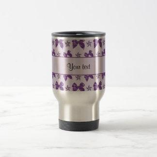 Beautiful Purple Satin Bows Travel Mug