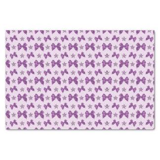 Beautiful Purple Satin Effect Bows Tissue Paper