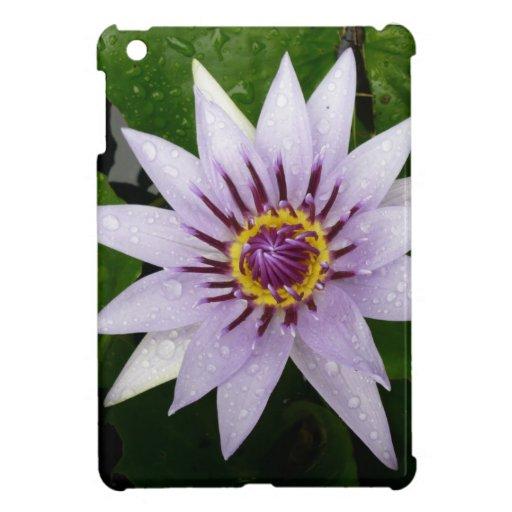 Beautiful Purple Water Lily Case For The iPad Mini