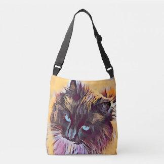 Beautiful Ragdoll Cat crossbody handbag