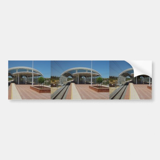 Beautiful Railway Station Of Currambine Bumper Stickers