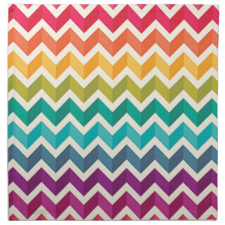 Beautiful Rainbow Chevron Napkin