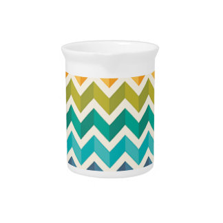 Beautiful Rainbow Chevron Pitcher